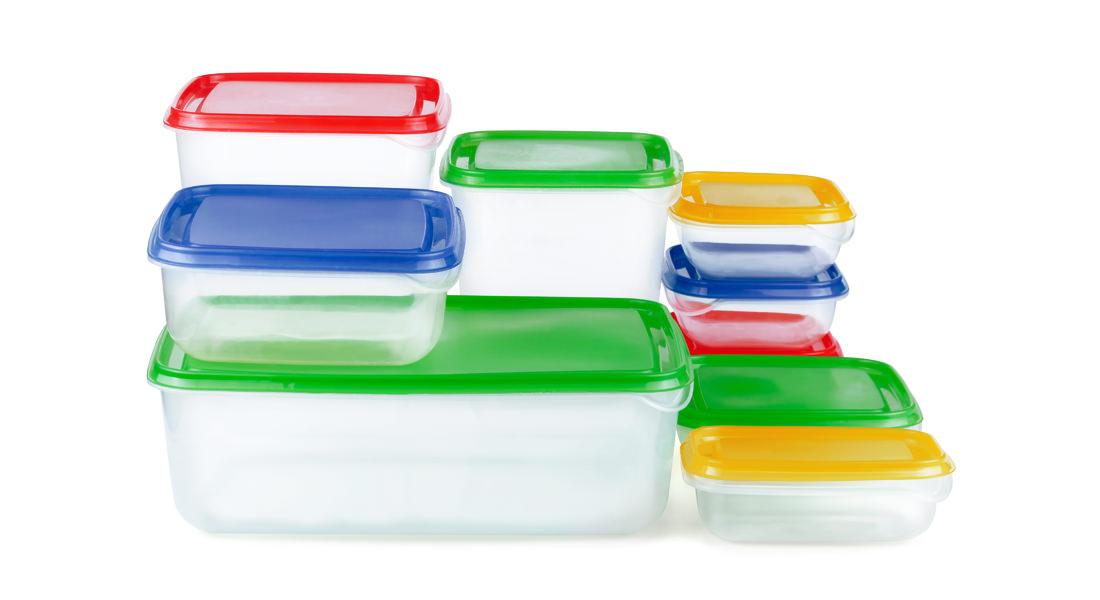 Envases de plástico cuadrados