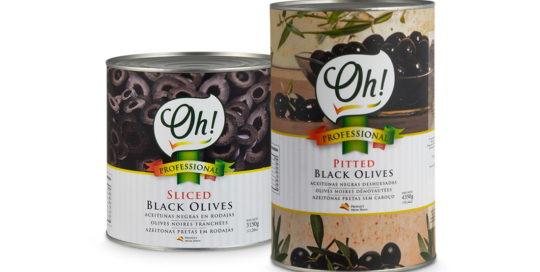 Aceitunas negras envasadas