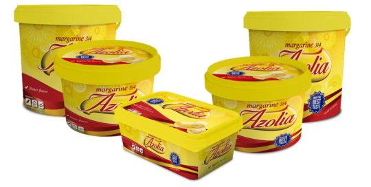 Margarinas marca Azolia
