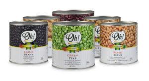 Conservas de legumbres de la marca Oh!