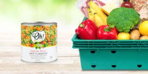 Guisantes y zanahorias en lata de Oh! Products